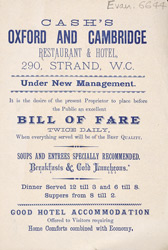 Advert for Sach's Oxford & Cambridge Restaurant & Hotel